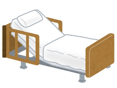 リカバリー室のベッド